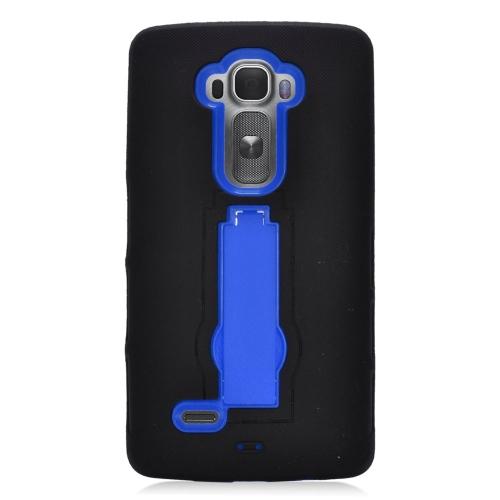 Insten Hybrid Stand Rubber Silicone/PC Case For LG G Flex 2, Black/Blue