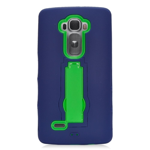 Insten Hybrid Stand Rubber Silicone/PC Case For LG G Flex 2, Blue/Green