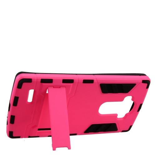 Insten Hybrid Stand Rubberized Hard PC/Silicone Case For LG G4, Hot Pink/Black