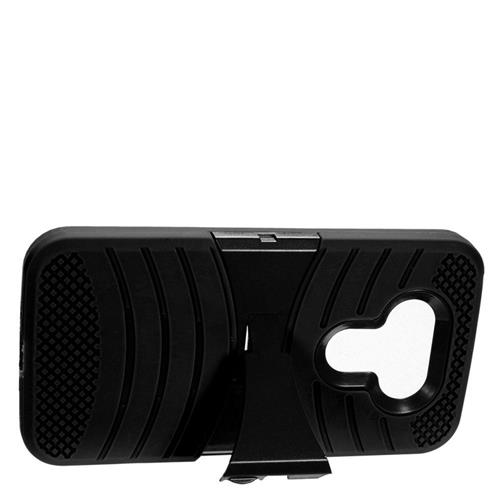 Insten Wave Hybrid Stand Rubber Silicone/PC Case For LG G5, Black