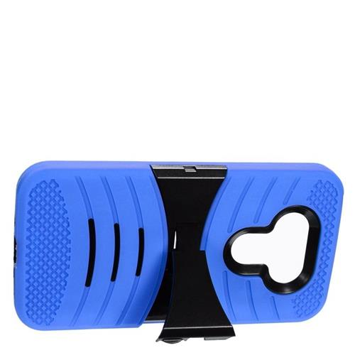 Insten Wave Hybrid Stand Rubber Silicone/PC Case For LG G5, Blue/Black
