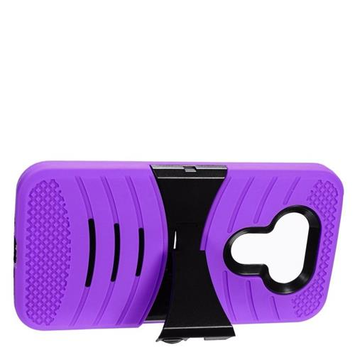 Insten Wave Hybrid Stand Rubber Silicone/PC Case For LG G5, Purple/Black