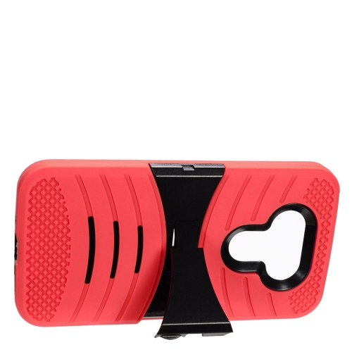Insten Wave Hybrid Stand Rubber Silicone/PC Case For LG G5, Red/Black