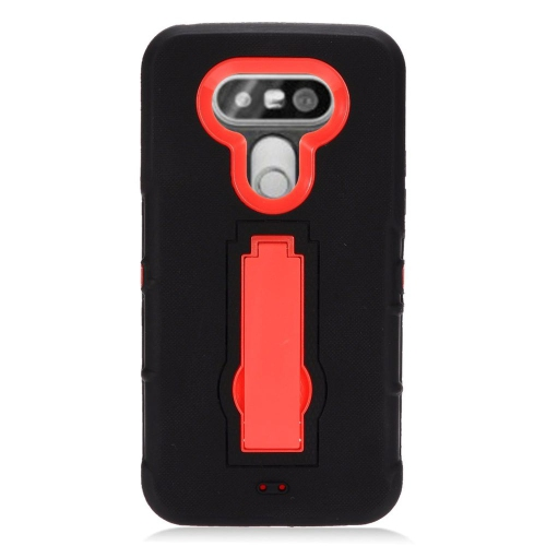 Insten Hybrid Stand Rubber Silicone/PC Case For LG G5, Black/Red
