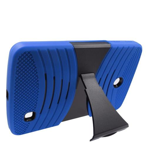Insten Wave Hybrid Stand Rubber Silicone/PC Case For LG G Pad 7.0, Blue/Black