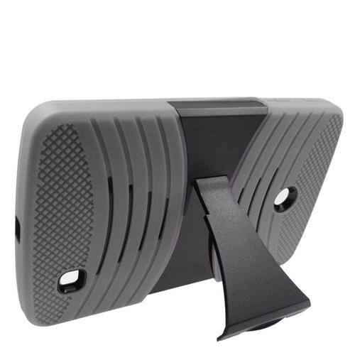 Insten Wave Hybrid Stand Rubber Silicone/PC Case For LG G Pad 7.0, Gray/Black