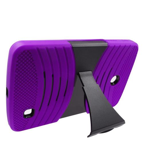 Insten Wave Hybrid Stand Rubber Silicone/PC Case For LG G Pad 7.0, Purple/Black