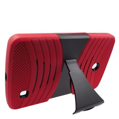 Insten Wave Hybrid Stand Rubber Silicone/PC Case For LG G Pad 7.0, Red/Black