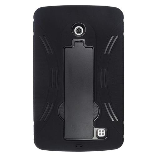 Insten Hybrid Stand Rubber Silicone/PC Case For LG G Pad 7.0, Black