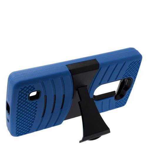 Insten Wave Hybrid Stand Rubber Silicone/PC Case For LG Escape 2 H443 / H445, Blue/Black
