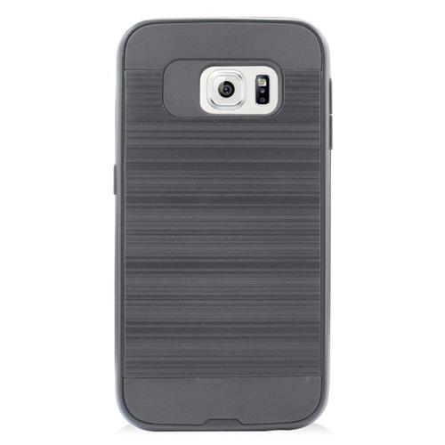 Insten Hybrid Rubberized Hard PC/Silicone Case For Samsung Galaxy S6 Edge, Gray