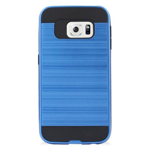 Insten Hybrid Rubberized Hard PC/Silicone Case For Samsung Galaxy S6 Edge, Blue/Black