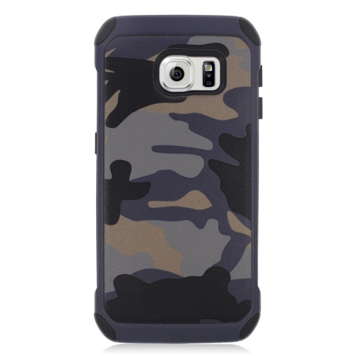 Insten Camouflage Hybrid Rubberized Hard PC/Silicone Case For Samsung Galaxy S6 Edge, Gray/Black
