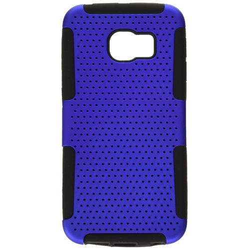 Insten Astronoot Hybrid PC/TPU Rubber Case For Samsung Galaxy S6 Edge, Blue/Black
