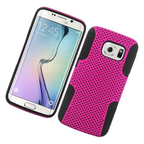 Insten Astronoot Hybrid PC/TPU Rubber Case For Samsung Galaxy S6 Edge, Hot Pink/Black