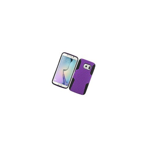 Insten Astronoot Hybrid PC/TPU Rubber Case For Samsung Galaxy S6 Edge, Purple/Black