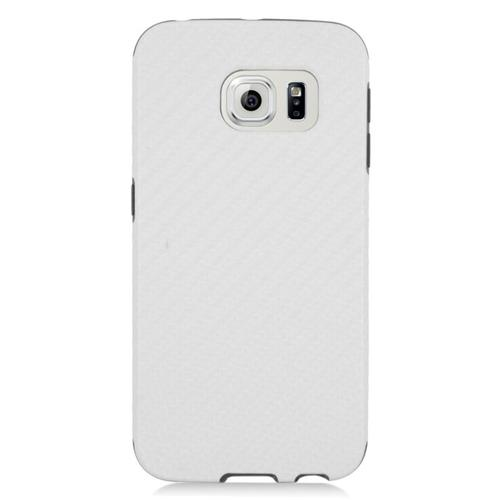 Insten Fitted Soft Shell Case for Samsung Galaxy S6 Edge - White;Black