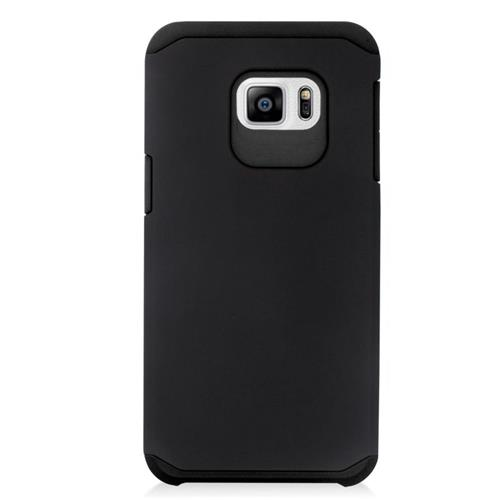 Insten Hybrid Rubberized Hard PC/Silicone Case For Samsung Galaxy S6 Edge Plus, Black