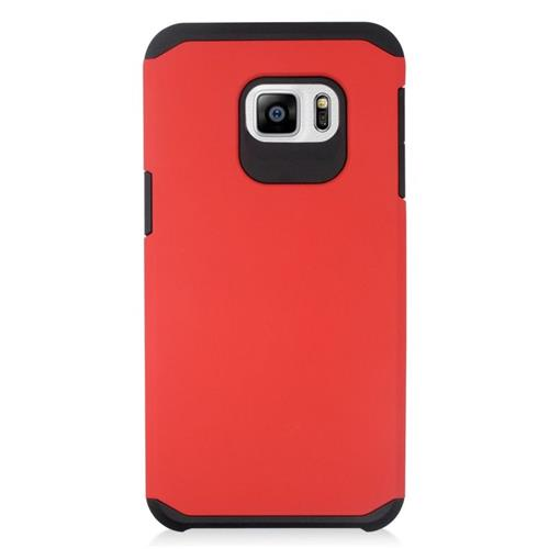 Insten Hybrid Rubberized Hard PC/Silicone Case For Samsung Galaxy S6 Edge Plus, Red/Black