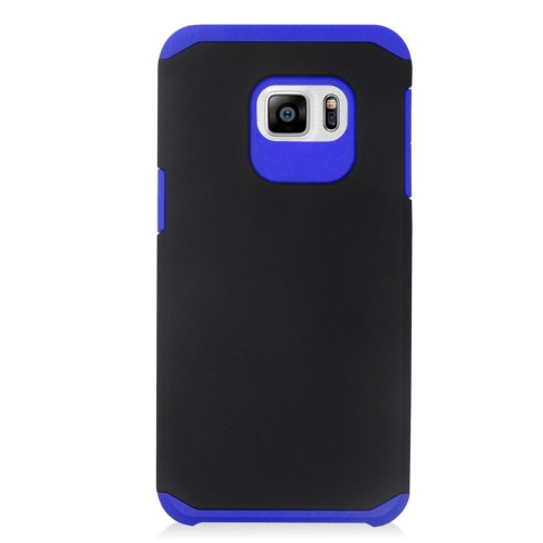 Insten Hybrid Rubberized Hard PC/Silicone Case For Samsung Galaxy S6 Edge Plus, Black/Blue