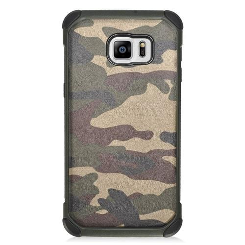 Insten Camouflage Hybrid Hard PC/Silicone Case For Samsung Galaxy S6 Edge Plus, Green/Black