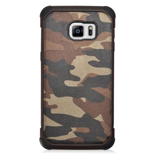 Insten Camouflage Hybrid Hard PC/Silicone Case For Samsung Galaxy S6 Edge Plus, Brown/Black