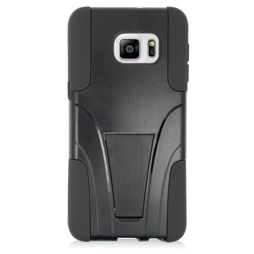 Insten Hybrid Stand PC/Silicone Case For Samsung Galaxy S6 Edge Plus, Black