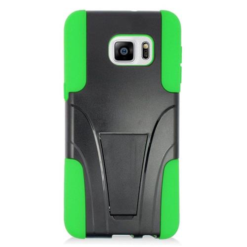Insten Fitted Soft Shell Case for Samsung Galaxy S6 Edge Plus - Green;Black