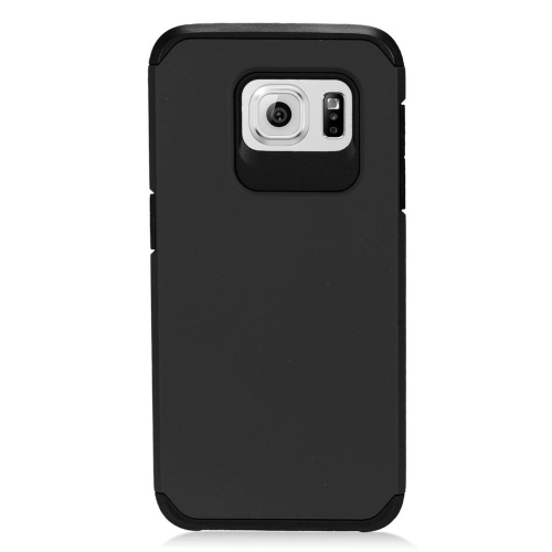 Insten Hybrid Rubberized Hard PC/Silicone Case For Samsung Galaxy S7 Edge, Black