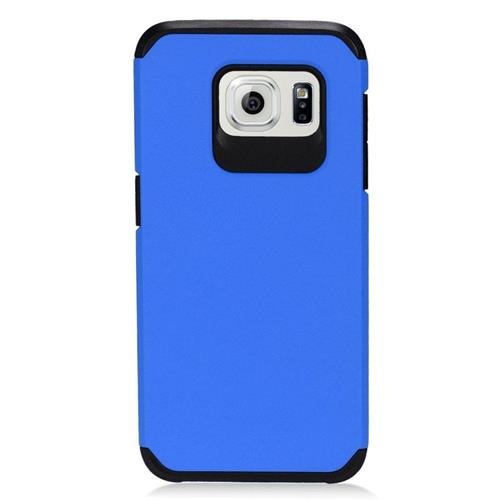 Insten Hybrid Rubberized Hard PC/Silicone Case For Samsung Galaxy S7 Edge, Blue/Black