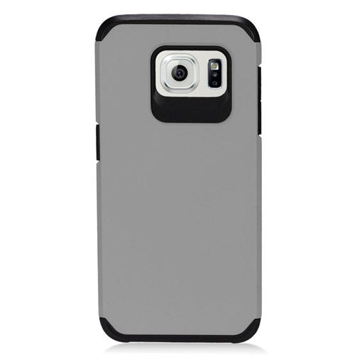 Insten Hybrid Rubberized Hard PC/Silicone Case For Samsung Galaxy S7 Edge, Gray/Black