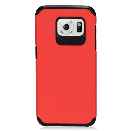 Insten Hybrid Rubberized Hard PC/Silicone Case For Samsung Galaxy S7 Edge, Red/Black