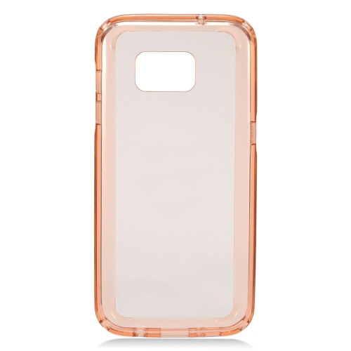 Insten TPU Rubber Candy Skin Case Cover Compatible With Samsung Galaxy S7 Edge, Rose Gold