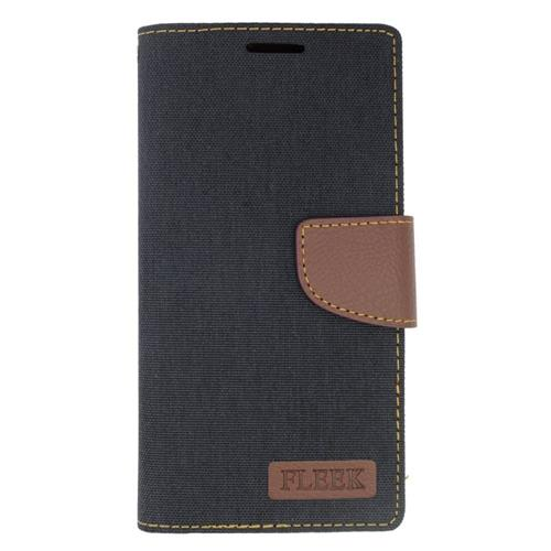 Insten Wallet Case for Samsung Galaxy S6 Edge Plus - Brown;Black