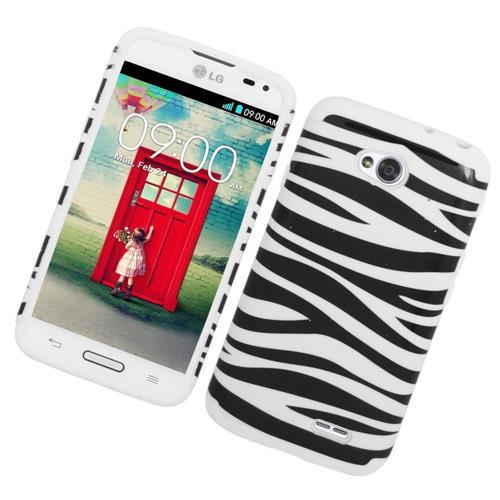 Insten Zebra Hard Hybrid Rubber Case For LG Optimus Exceed 2 VS450PP/Optimus L70/Realm, White/Black