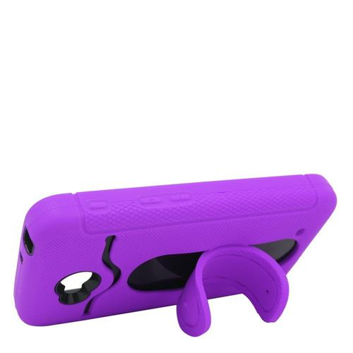 Insten Hybrid Rubber Case w/stand For LG Optimus Exceed 2 VS450PP/Optimus L70/Realm, Purple/Black