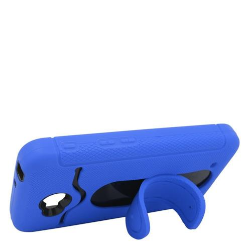 Insten Hybrid Rubber Case w/stand For LG Optimus Exceed 2 VS450PP/Optimus L70/Realm, Blue/Black