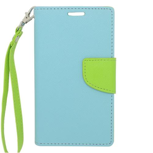 Insten Leather Case For LG Optimus Exceed 2 VS450PP Verizon/Optimus L70/Realm, Light Blue