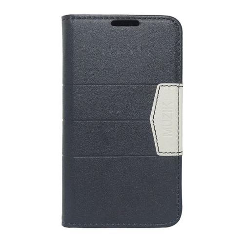 Insten Leather Case w/card slot For LG Optimus Exceed 2 VS450PP Verizon/Optimus L70/Realm, Black