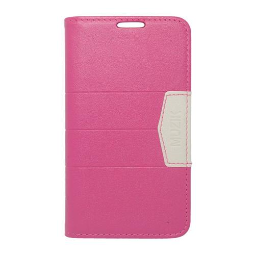 Insten Flip Leather Case For LG Optimus Exceed 2 VS450PP Verizon/Optimus L70/Realm, Hot Pink/Pink