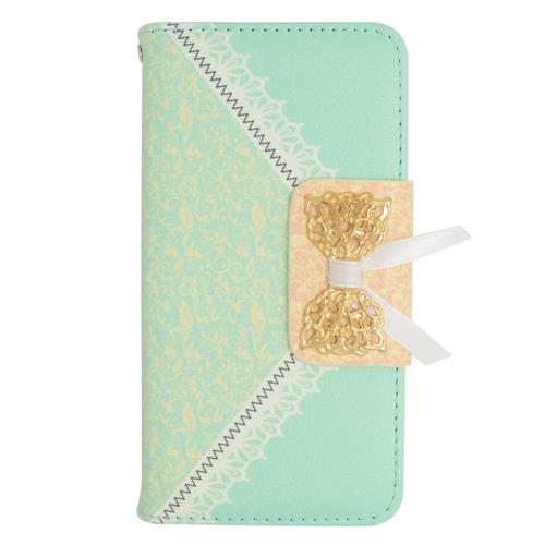 Insten Leather Case w/stand For LG Optimus Exceed 2 VS450PP Verizon/Optimus L70/Realm, Green/Gold