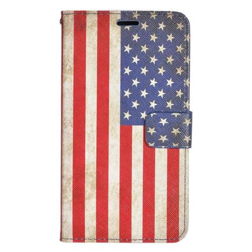 Insten United States Flag Flip Leather Case w/stand/card holder/Photo Display For LG G5, Colorful