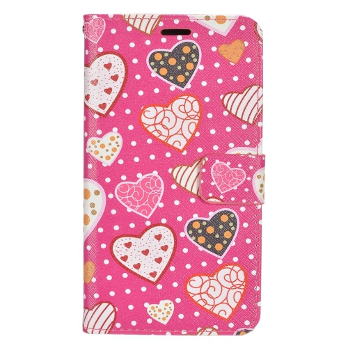 Insten Hearts Flip Leather Fabric Cover Case w/stand/card slot/Photo Display For LG G5, Colorful
