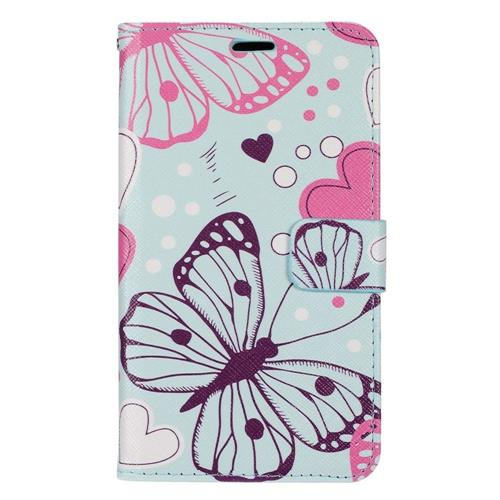 Insten Butterfly Flip Leather Fabric Case w/stand/card slot/Photo Display For LG G5, Colorful