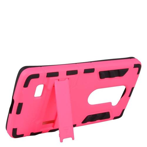 Insten Hybrid Hard Case For LG Destiny/Leon 4G LTE H340N/Power/Risio/Tribute 2, Hot Pink/Black