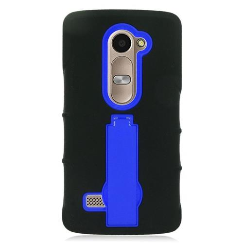 Insten Hybrid Case For LG Destiny/Leon Leon 4G LTE H340N/Power/Risio/Tribute 2, Black/Blue