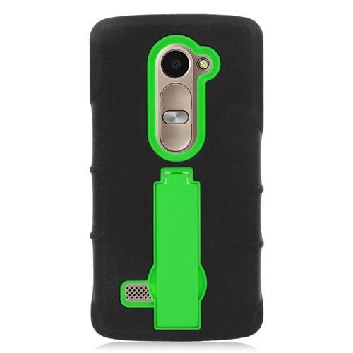 Insten Hybrid Case For LG Destiny/Leon Leon 4G LTE H340N/Power/Risio/Tribute 2, Black/Green