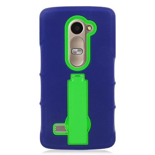 Insten Hybrid Case For LG Destiny/Leon Leon 4G LTE H340N/Power/Risio/Tribute 2, Blue/Green