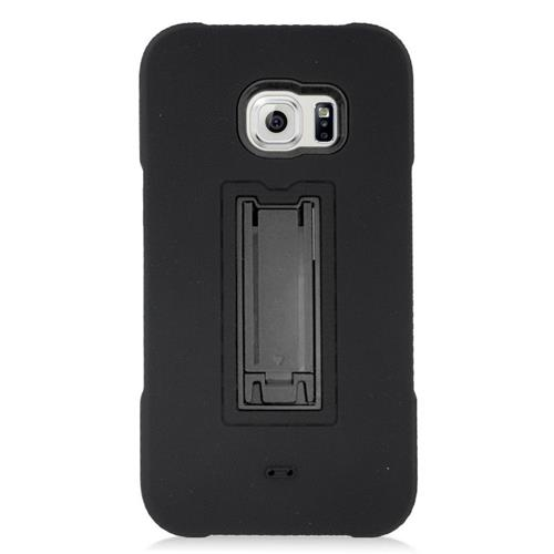 Insten Hybrid Stand Rubber Silicone/PC Case For Samsung Galaxy S6 Edge Plus, Black