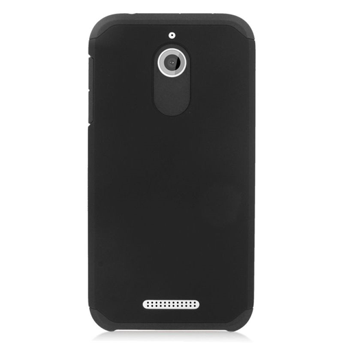 Insten Hybrid Rubberized Hard PC/Silicone Case For HTC Desire 510, Black